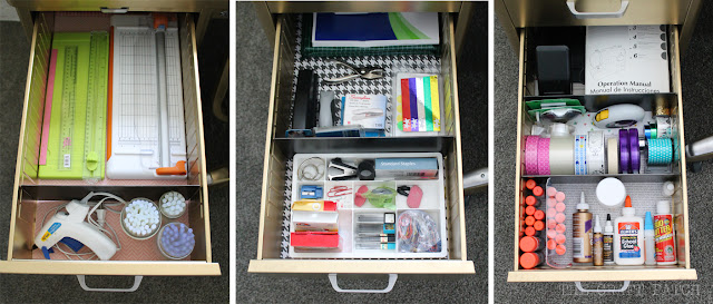 Organized office supplies