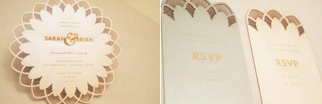 lace paper wedding invitation card