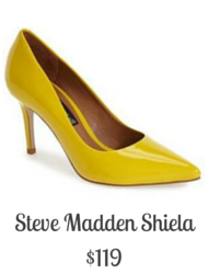 Sydney Fashion Hunter - Steve Madden Shiela Yellow Pump