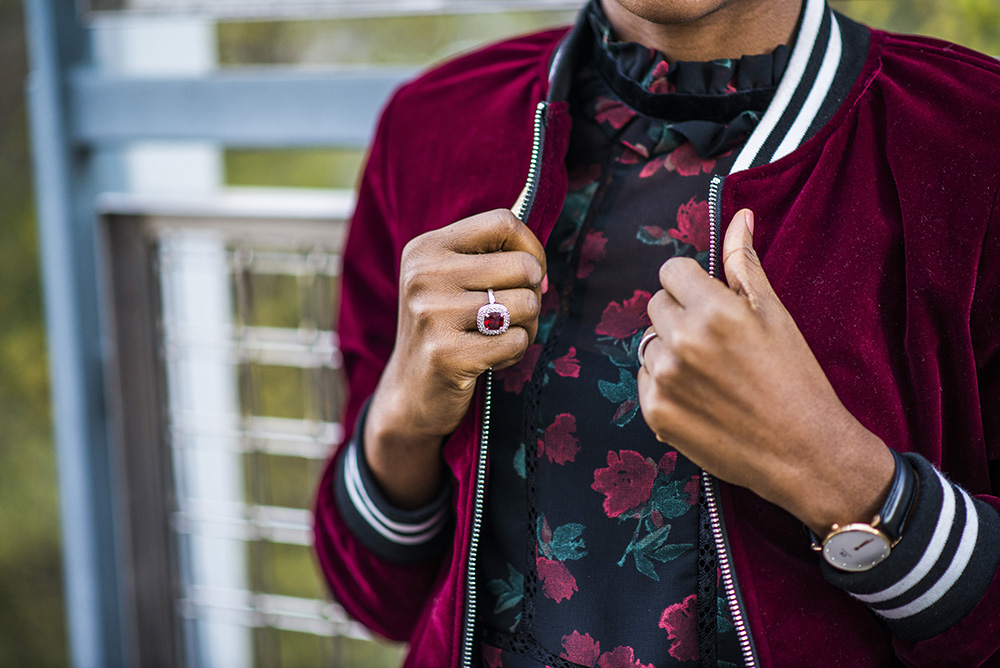 What to wear for Winter: Floral dress