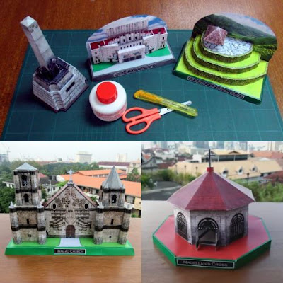 Philippines Architecture Paper Models