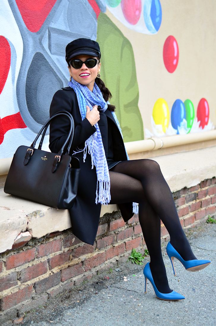 Outfit With Blue Heels