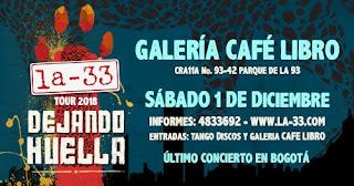 """Último Concierto del año la orquesta LA 33 en Bogotá, en el marco de su tour """"Dejando Huella"""""""