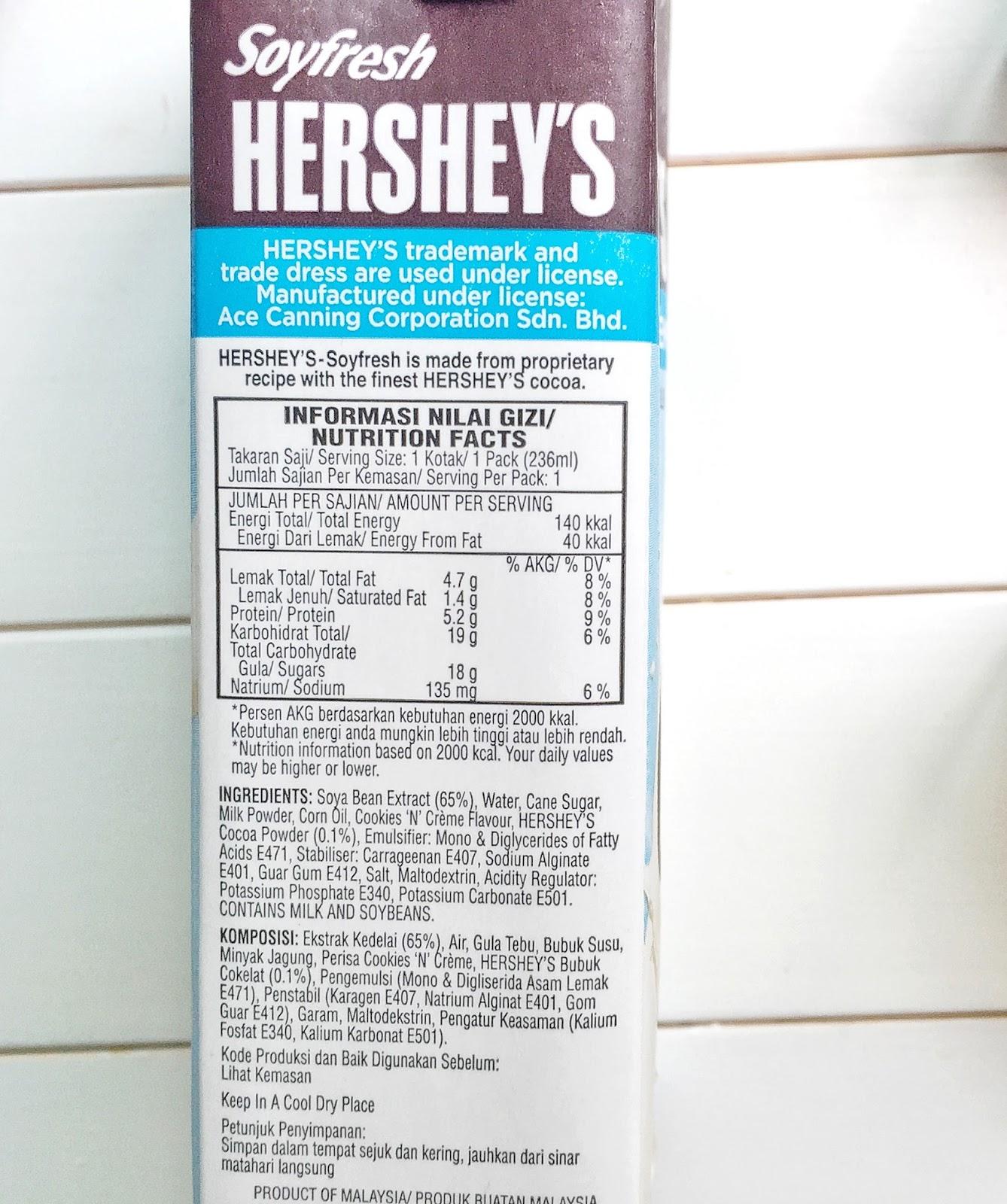 Hershey S Soyfresh Cookies N Creme Delicious Soymilk Midsummer Treat
