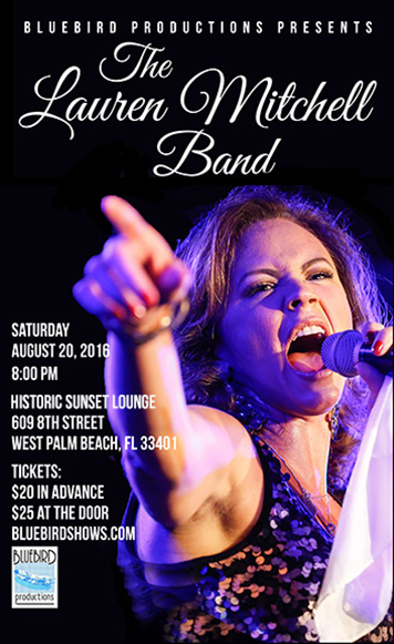 Lauren Mitchell Band Brings The Blues Back To Historic Sunset Lounge In West Palm Beach Fl