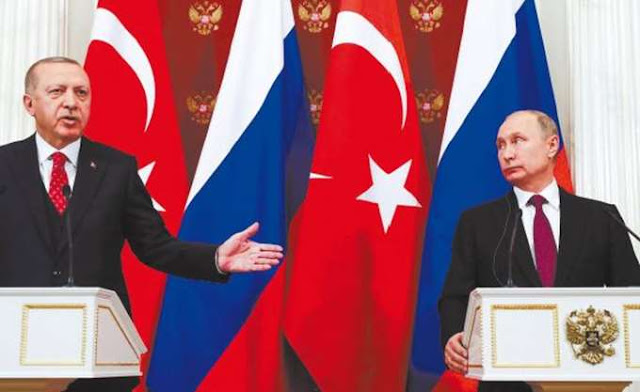 """""""Σύννεφα"""" στη σχέση Ερντογάν - Πούτιν από τα πλήγματα Άσαντ στο Ιντλίμπ"""