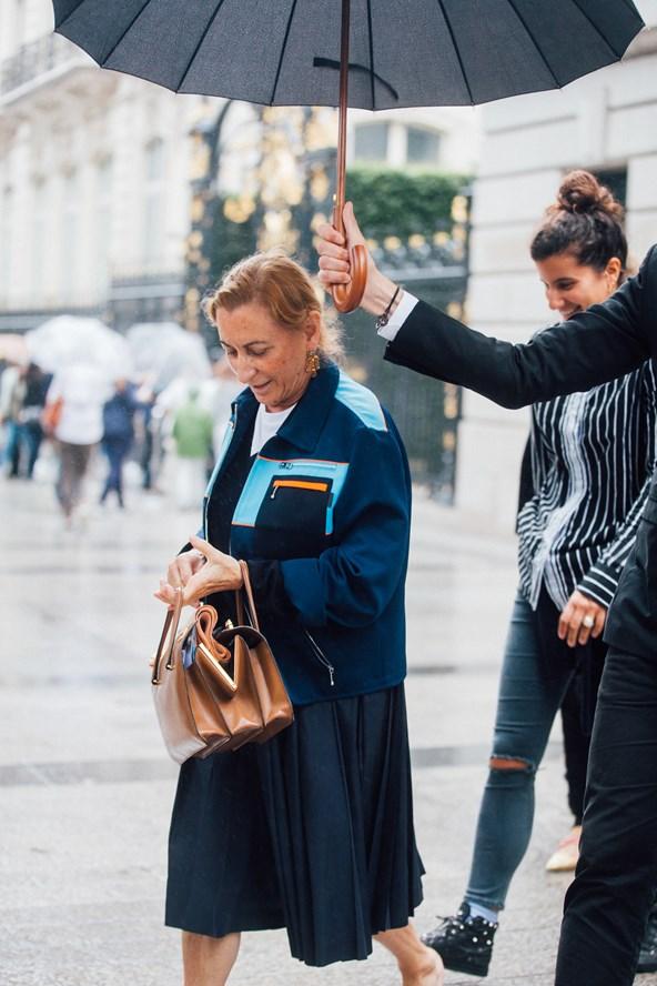 Street Style + Miuccia Prada + PFW