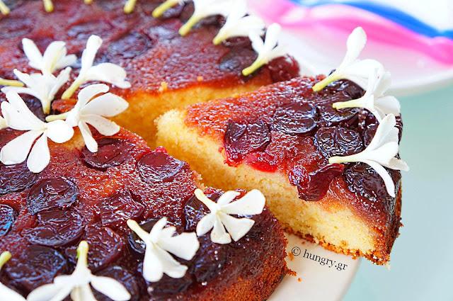 Αναποδογυρισμένο Κέικ με Κεράσια