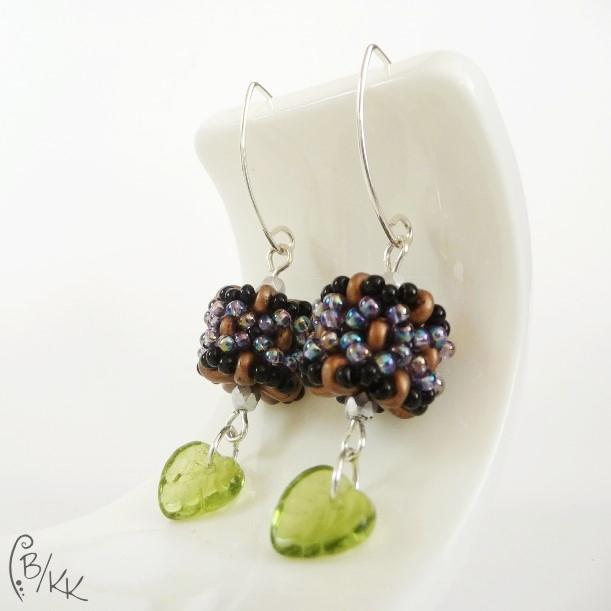 kolczyki superduo beaded bead | superduo beaded bead earrings