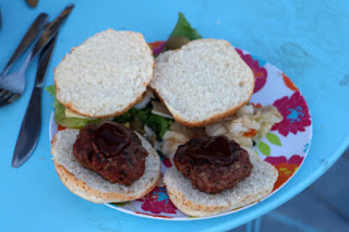 Homemade burgers with awesome BBQ sauce