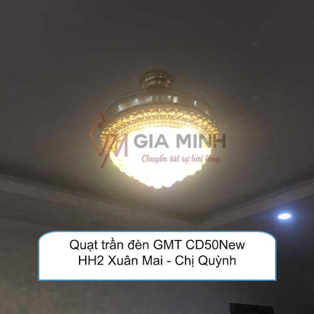 Hình ảnh thực tế: Quạt trần đèn GMT 8066 tại nhà Anh Tâm - Skylight Minh Khai Hà Nội