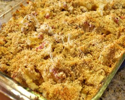 chicken cordon bleu casserole pre oven