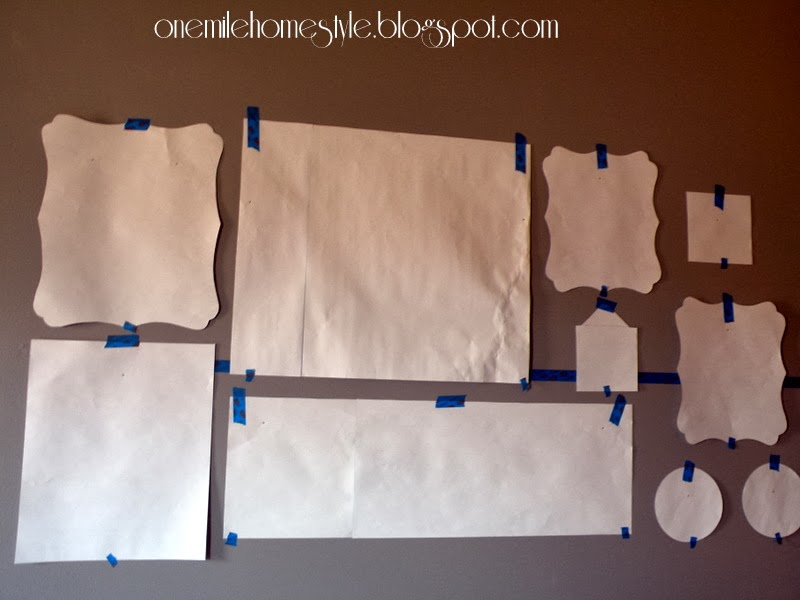 Gallery wall how-to -  paper templates