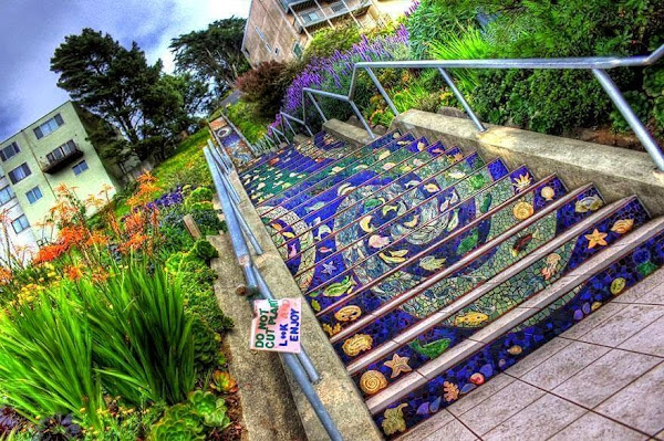 Tiled Steps, San Francisco