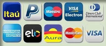 Pague com Cartões de crédito
