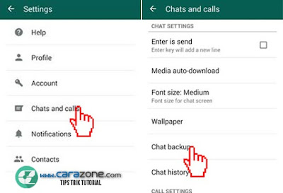 WhatsApp Cara Backup riwayat obrolan , Kontak & Foto ke Google Drive