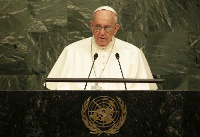 El discurso ante la ONU | El Papa Francisco recitó el Martín Fierro y fue ovacionado 0925_papa_onu_g8.jpg_1853027552