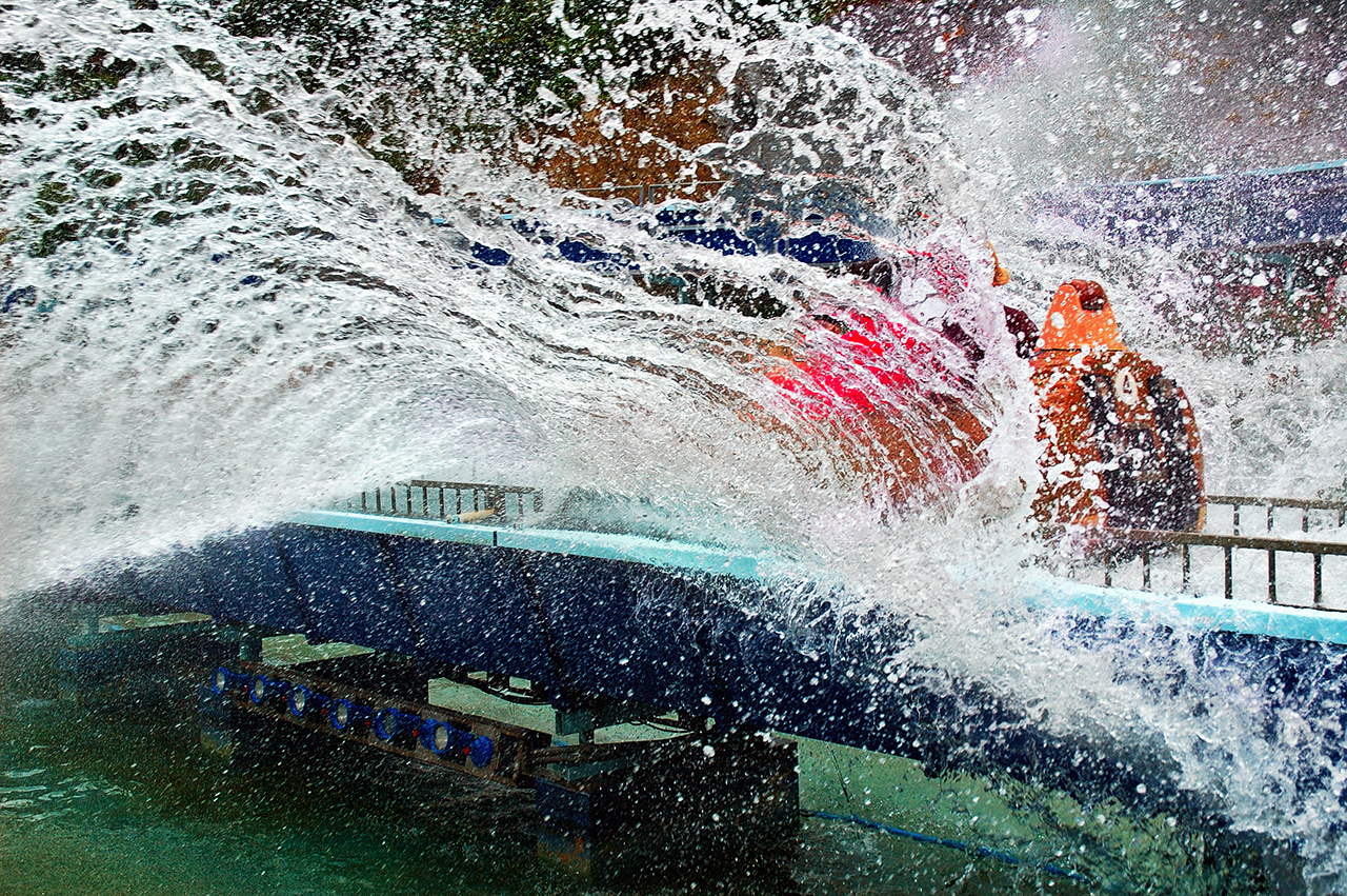 Tibidabo Log Splash Attraction, Barcelona, Spain