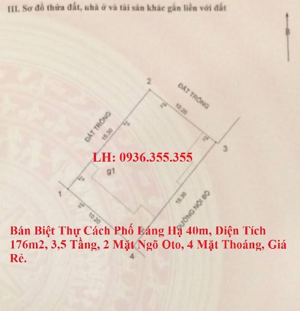 Bán nhà ngõ 59 phố Láng Hạ, Ba Đình