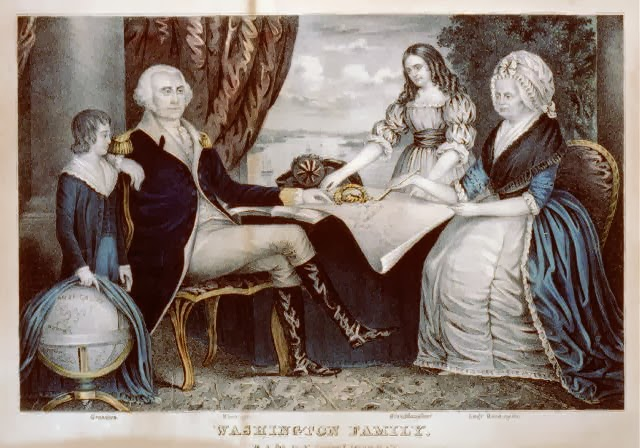 Currier and Ives George Washington family