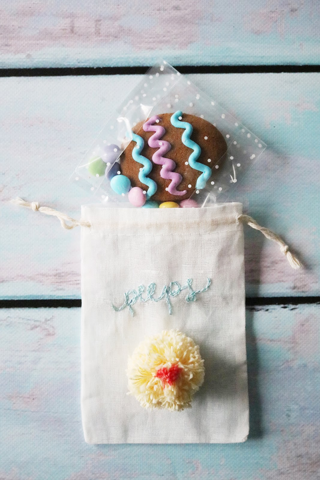 DIY Easter themed gift packaging inspiration using handmade pom poms | Lorrie Everitt Studio