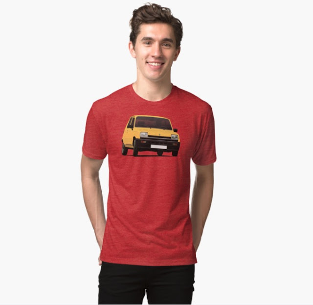 Renault 5 orange retro  t-shirt redbubble