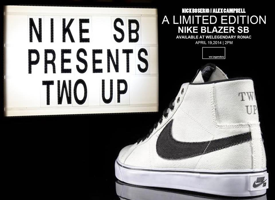 on sale d7001 73e3c Nike SB Blazer Two Up We Legendary Release