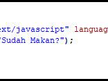 Perintah Output Alert dan Document Write - Latihan Javascript