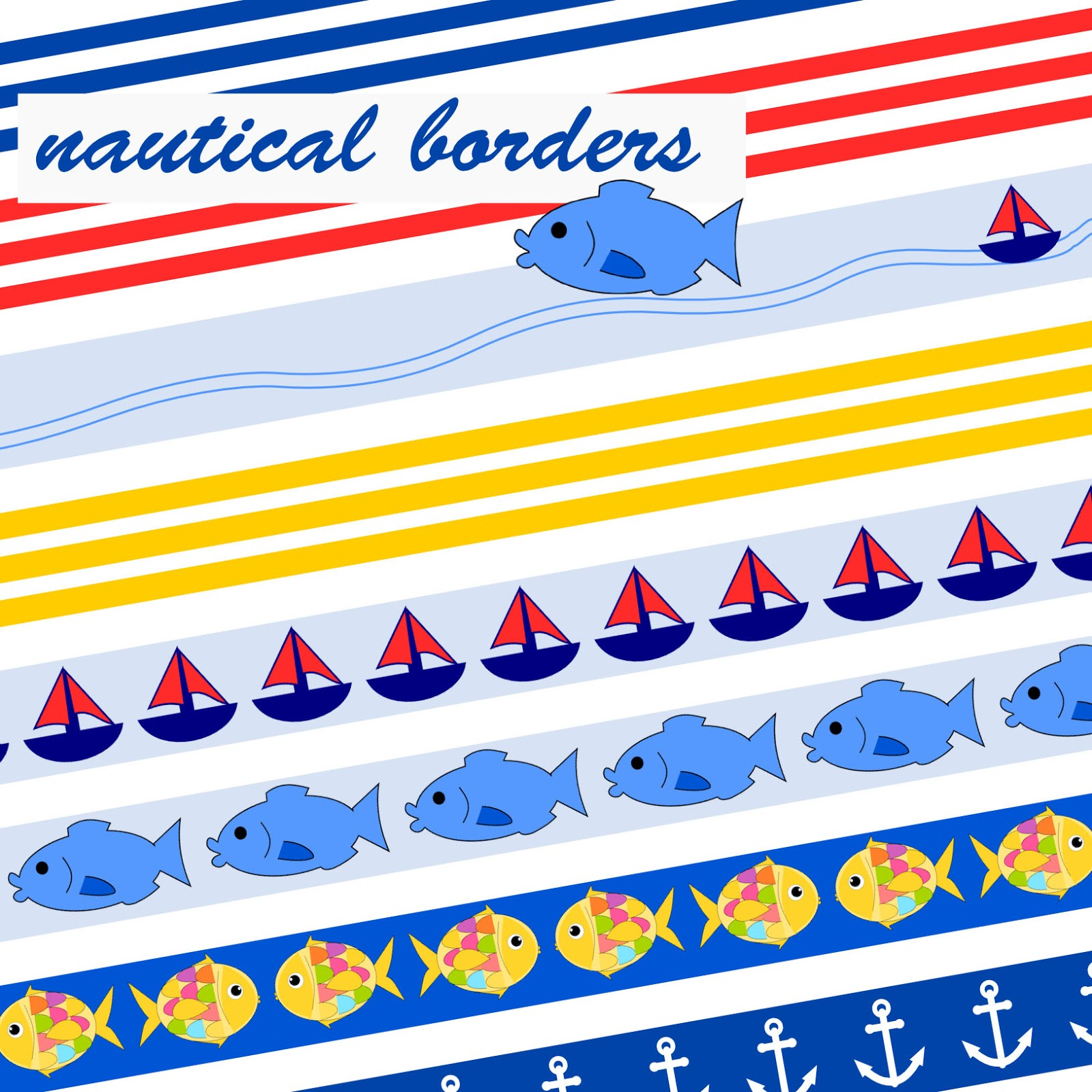 Meinlilapark Free Printable Nautical Planner Stickers Borders
