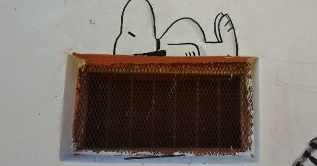 Dessin sur mur peinture snoopy for Dessin sur mur peinture