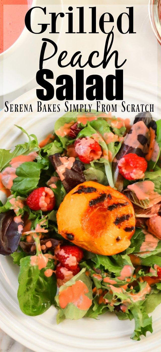 Grilled Peach Salad Raspberry Vinaigrette