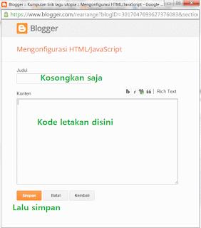 Cara memasang widget banner Alexa rank site info