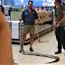 QUE SUSTO: Cliente de supermercado vai pegar iogurte e acaba achando cobra de 3,5 metros