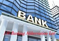 Banking Abbreviation