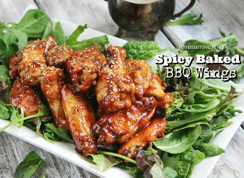 Delicious #recipe for Spicy Baked BBQ Chicken Wings