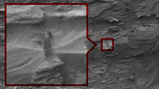 Imagens misteriosas de Marte - Mulher em Marte