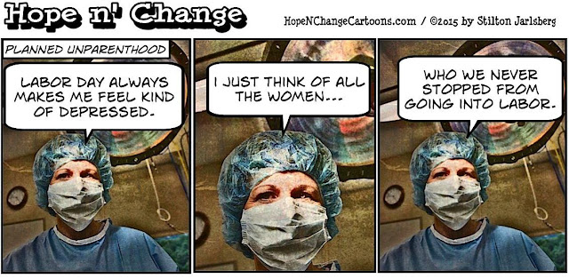 obama, obama jokes, political, humor, cartoon, conservative, hope n' change, hope and change, stilton jarlsberg, planned parenthood, labor day, abortion