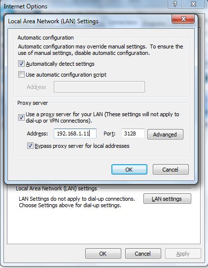 Linux: Configure transparent proxy with squid