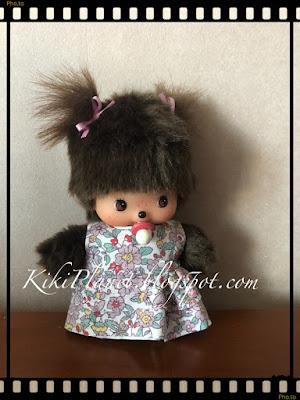 kiki monchhichi bebichhichi handmade robe fait main vêtement poupée couture