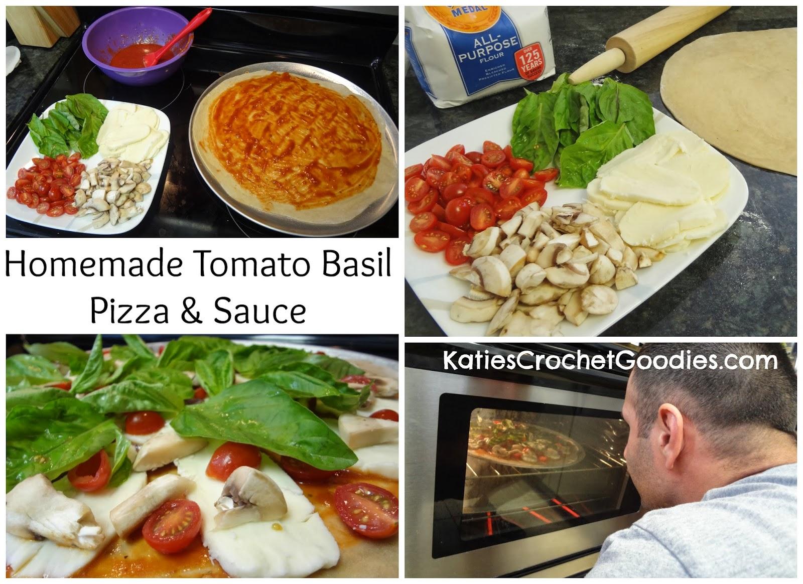 tomato basil pizza diy