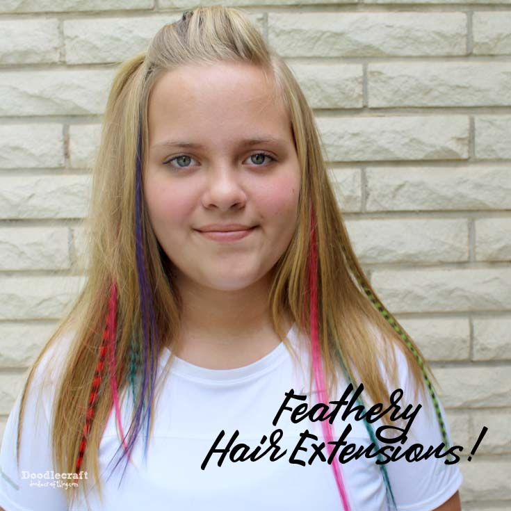 Doodlecraft Feathery Hair Extensions