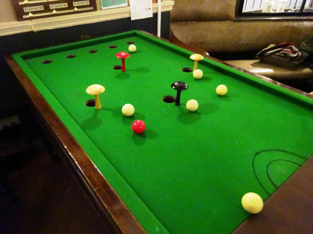The Ham And Egger Files Bar Billiards At The Blossoms Pub In Stockport - Pool table with pegs