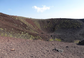 l'interno del cratere silvestre