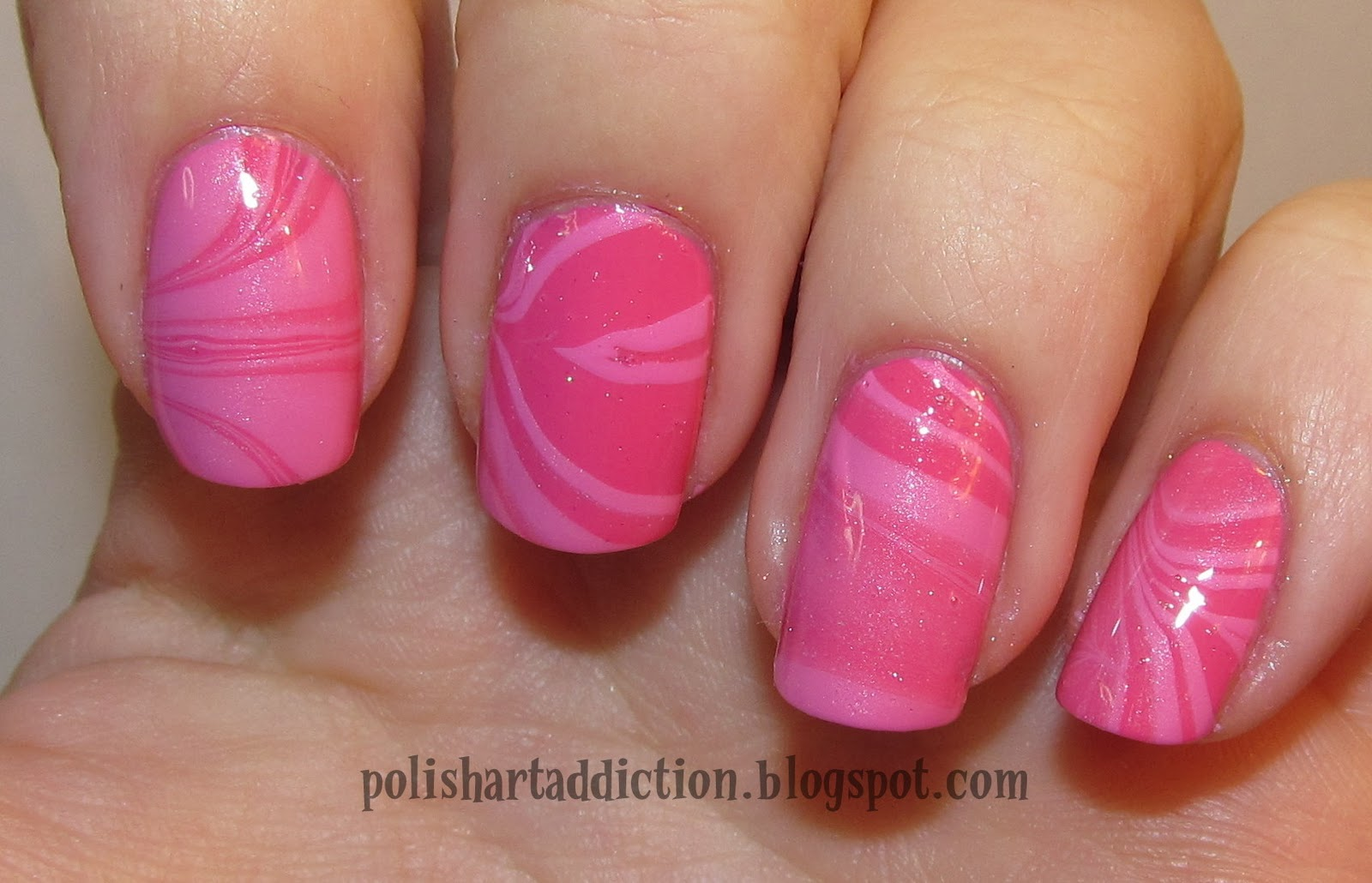 Pink Water Marble Reject