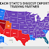Each State's Biggest export and import Trading Partner