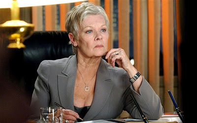 Judi Dench as MI6 head M, Skyfall (2012), Directed by Sam Mendes