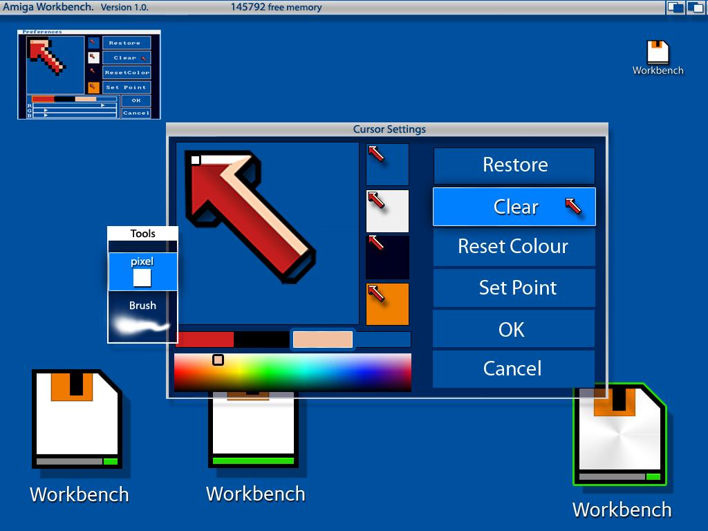 AMIGAoneX: Amiga Workbench Version 1 0 - 2012 concept