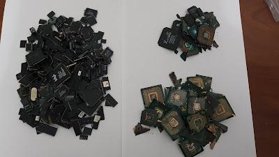 Аффинаж микросхем, чипов и мостов с компьютера
