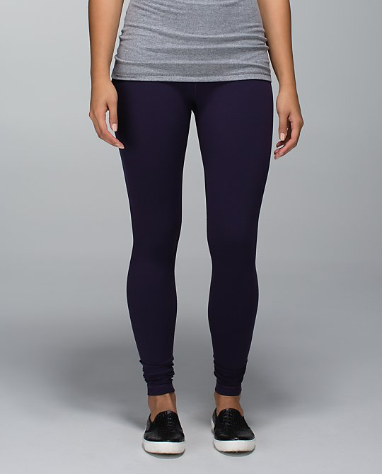 lululemon black grape wunder under pant luon