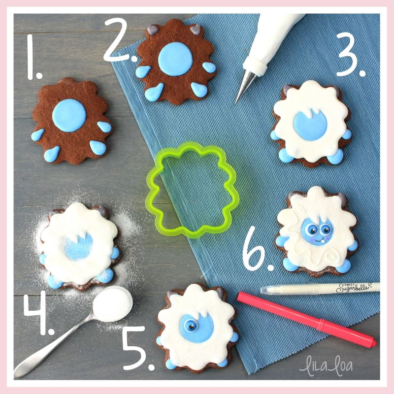 Yeti sugar cookie decorating tutorial